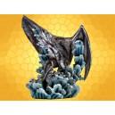Dragons des Mers Grande Statuette ou Figurine Dragon Bleu et Vagues