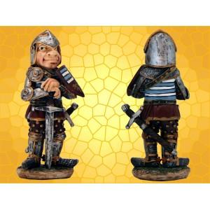 Figurine Soldat Médiéval Humoristique Garde debout avec épée