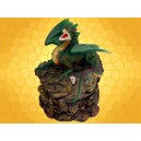 Boite Figurine Dragon Vert Magicien sur Rochers