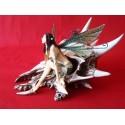 Crâne Alchemy Gothic Dragons et Fée Le dernier Dragon des Elfes
